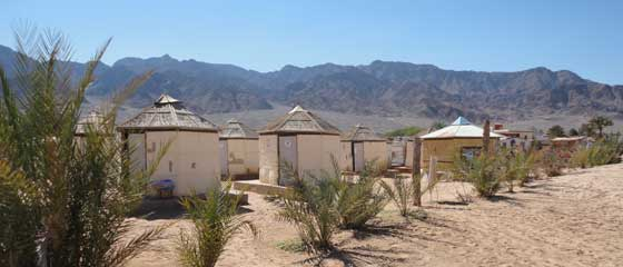 Accommodation in Nuweiba | Soft beach huts