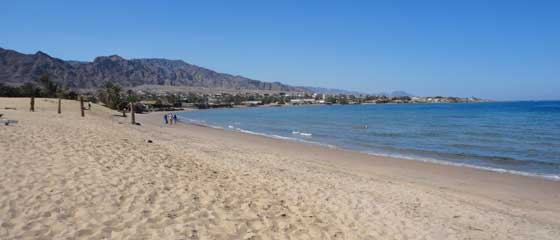 Nuweiba Travel Guide | The sandy beach at Taraben