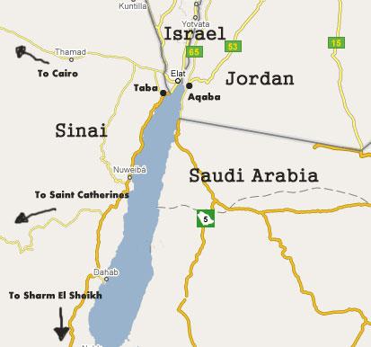 Gulf Of Aqaba Map Map Gulf of Aqaba   Jordan, Egypt, Israel Red Sea Map
